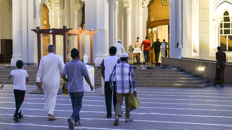 «الشؤون الإسلامية» حددت ضوابط عامة لإقامة الصلاة في المساجد.تصوير: أشوك فيرما