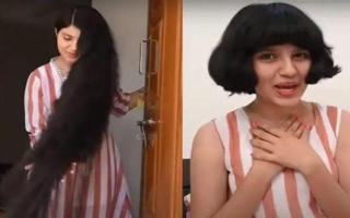 الصورة: بالفيديو.. السبب وراء قص صاحبة أطول شعر في العالم