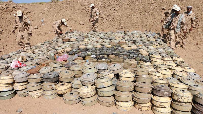 آلاف الألغام زرعها الحوثيون في اليمن.   أرشيفية
