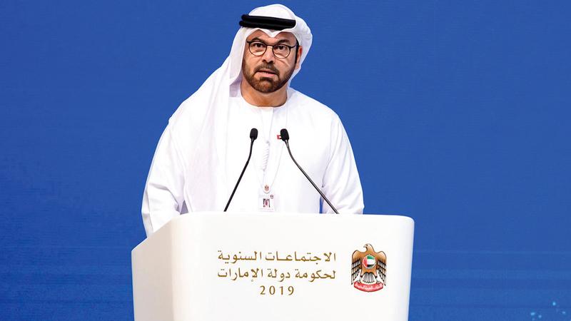 وزير شؤون مجلس الوزراء الأمين العام لمبادرات محمد بن راشد آل مكتوم العالمية: محمد عبدالله القرقاوي.