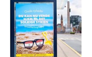 الصورة: ملصقات في شوارع الدنمارك لحث اللاجئين السوريين على العودة تثير موجة غضب