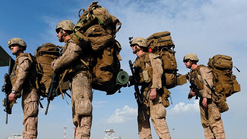 القوات الأميركية في أفغانستان سيتم سحبها على الرغم من مخاطر سيطرة «طالبان» على الدولة.  أ.ف.ب