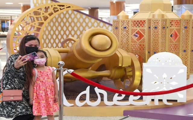 الصورة: بالصور: زينة رمضان في مراكز التسوق بأبوظبي