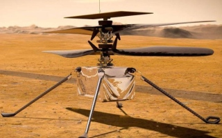 """الصورة: إنجاز تاريخي..""""إنجينيويتي"""" أول مروحية تحلق بنجاح فوق المريخ"""