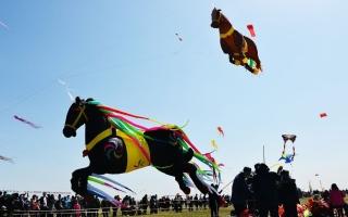 الصورة: بالصور.. مهرجان ويفانغ الدولي للطائرات الورقية في الصين