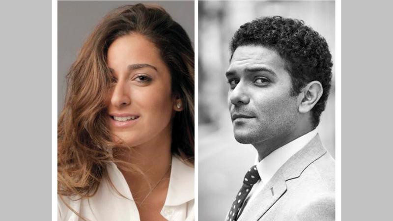 آسر ياسين وأمينة خليل شاركا في إعلان لفت انتباه الجمهور.  أرشيفية