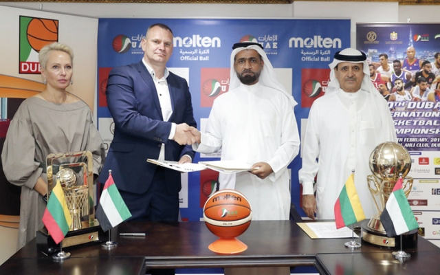 الصورة: اتفاقية لتعزيز الشراكة بين السلة الإماراتية والليتوانية