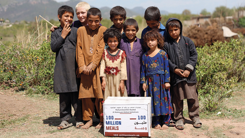 عدد من الأطفال المستفيدين من الحملة.   أرشيفية