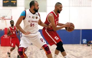 الصورة: الوحدة ينجو من مصيدة الجزيرة في كأس السلة