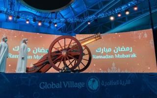 الصورة: القرية العالمية تحتفي بضيوفها في رمضان بمفاجآت ومدفع إفطار ومسحراتي