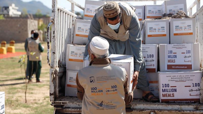 الحملة تستهدف عدداً محدداً من الطرود الغذائية لكل دولة مستهدفة.   من المصدر
