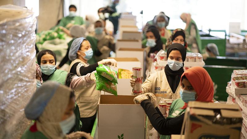 الحملة انطلقت الأسبوع الماضي في توزيع الأغذية في الأردن وباكستان ومصر.   أرشيفية