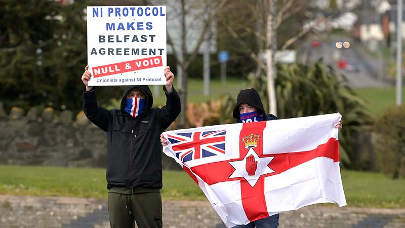 الكثير من سكان إيرلندا الشمالية عارضوا الخروج من الاتحاد الأوروبي.   أرشيفية