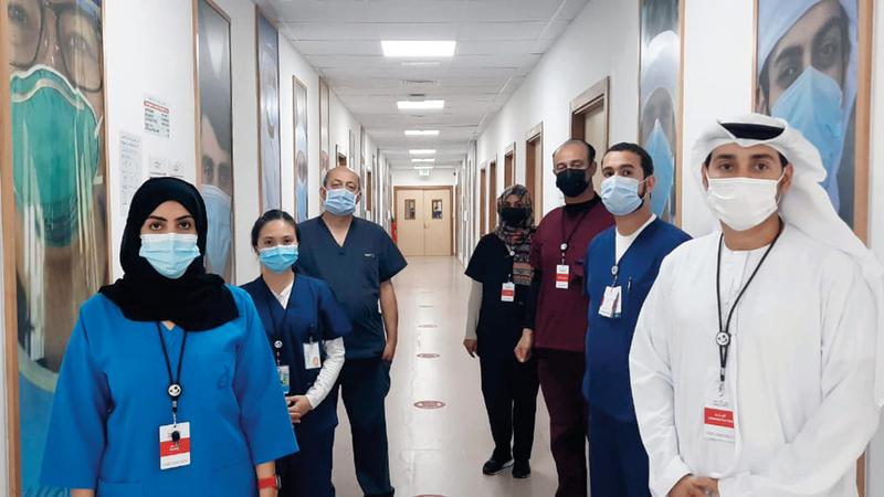 المستشفيات الميدانية في الشارقة وعجمان تركز على كيفية تنويم المريض.  أرشيفية