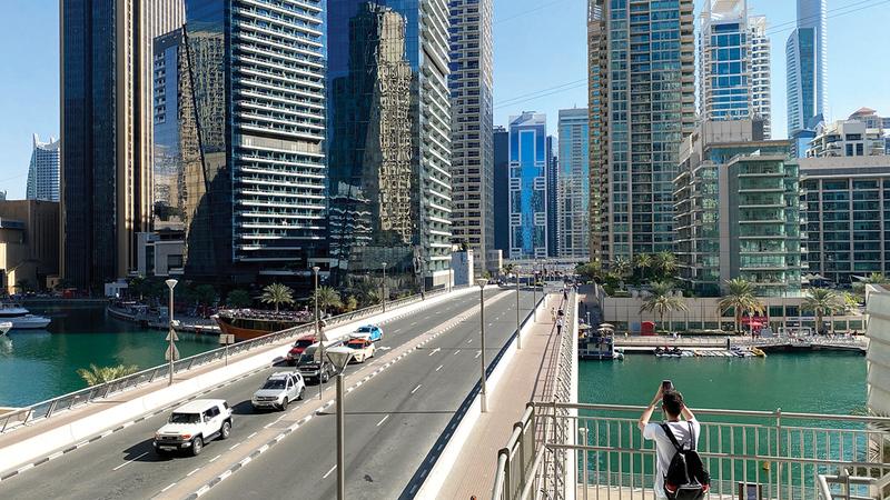 الأمن والأمان والإجراءات الاحترازية تزيد من جاذبية عقارات دبي الاستثمارية. تصوير: باتريك كاستيلو