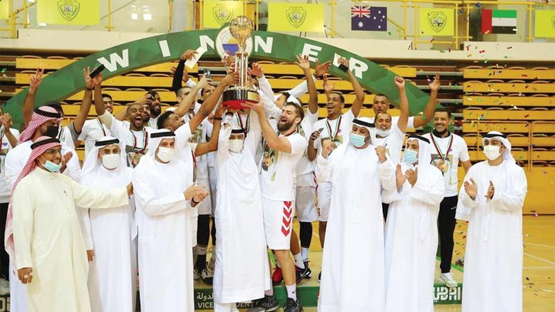 خلال تتويج فريق الشارقة بكأس نائب رئيس الدولة لكرة السلة.  من المصدر