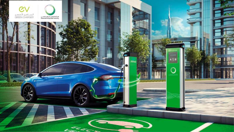 تطوير «ديوا » لمبادرة «الشاحن الأخضر» وزيادة عدد محطات الشحن أسهما في زيادة عدد السيارات الكهربائية بدبي.   من المصدر