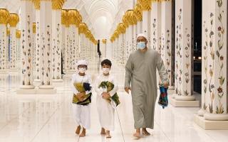 الصورة: في رحاب جامع الشيخ زايد