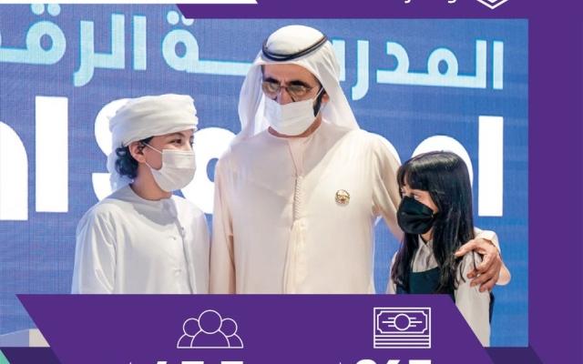 """الصورة: """"مبادرات محمد بن راشد العالمية"""" تصل بالتعليم إلى 45 مليون إنسان في 2020"""