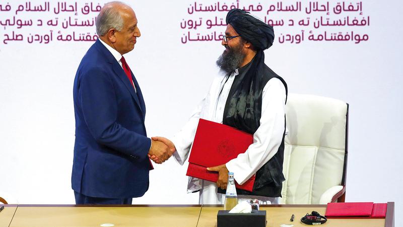الاتفاق لا يضمن عدم عودة «طالبان» لحكم أفغانستان.   أ.ف.ب