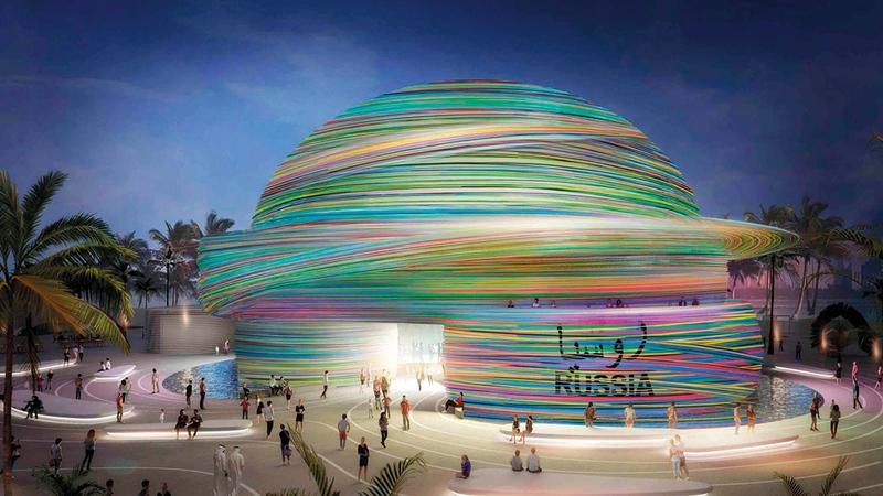 روسيا ستشارك في «إكسبو 2020 دبي» بجناح واسع ذي تصميم معماري مميز.   أرشيفية