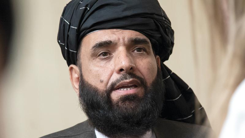 سهيل شاهين قال: نحن ملتزمون بعدم السماح لأي شخص باستخدام الأراضي الأفغانية ضد الولايات المتحدة أو حلفائها.   أ.ب