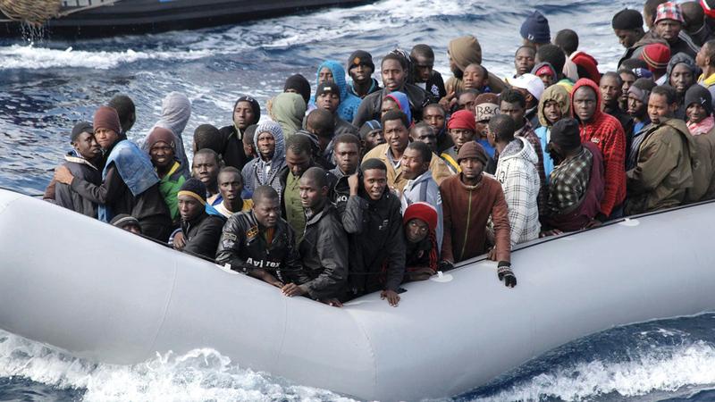 عدد المهاجرين الذين وفدوا إلى إيطاليا في 2021 بلغ 10 آلاف و400 شخص.  أ.ف.ب