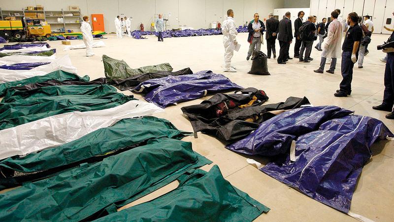 عدد الوفيات من المهاجرين الذين غرقوا في البحر هذا العام ارتفع بنسبة 200%.  أ.ف.ب