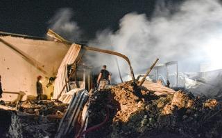 الصورة: مقتل مدني في غارات إسرائيلية على سورية