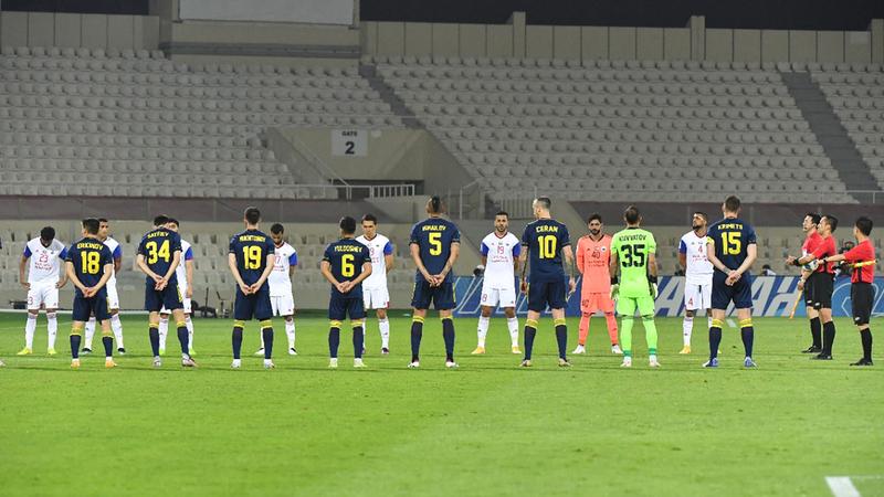 من مباراة سابقة للشارقة في أبطال آسيا أخيراً.  تصوير: أسامة أبوغانم