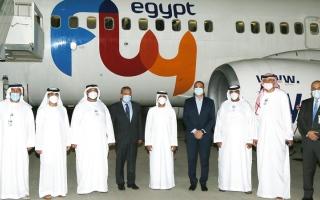 الصورة: مطار رأس الخيمة يبدأ شراكة جديدة مع «فلاي إيجيبت»