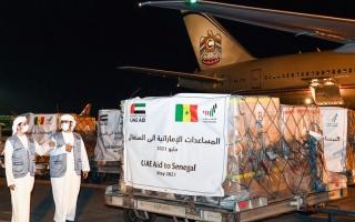 الصورة: الإمارات ترسل طائرتين من المساعدات إلى السنغال وسيراليون