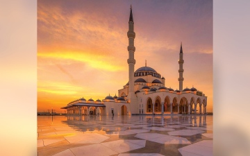 الصورة: بالفيديو.. مساجد.. مسجد الشارقة.. أيقونة عمرانية مهيبة