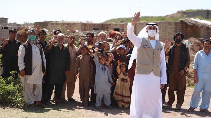 التفاعل المجتمعي ترجم روح الأخوّة الإماراتية في دعم شعوب العالم.   من المصدر