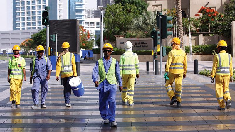 المشروع يهدف إلى إرساء معايير مستدامة في مجال الرعاية العمالية.  الإمارات اليوم