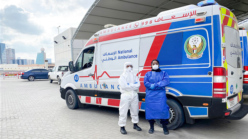 كوادر الإسعاف الوطني قدمت تضحيات كبيرة في التعامل مع الحالات المرضية.   من المصدر