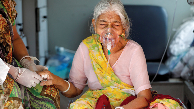 آلاف المرضى في الهند في أمسّ الحاجة إلى الأوكسجين.   أرشيفية