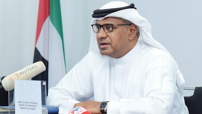 نبيل سلطان «(طيران الإمارات) تمتلك خبرة كبيرة في توصيل الإمدادات خلال الظروف الطارئة».