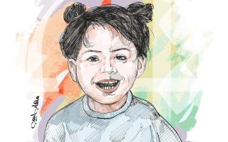 الصورة: 50.2 ألف درهم كلفة علاج الطفلة «حفصة» لمدة عام