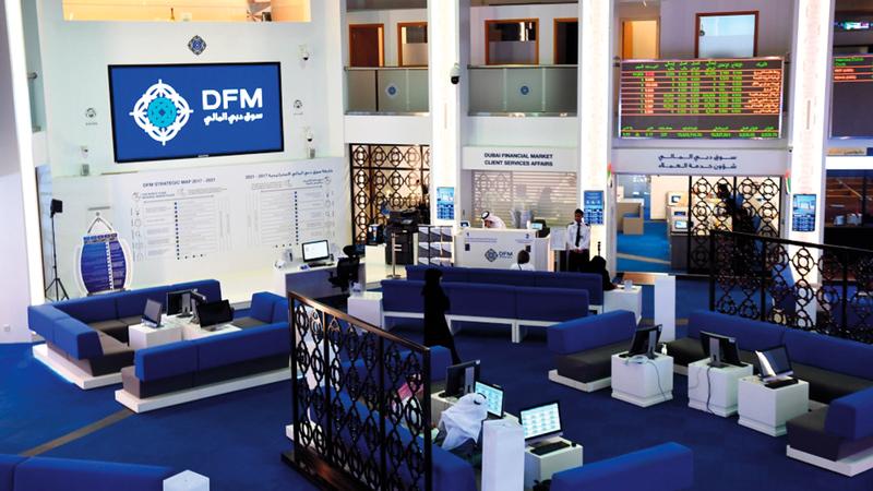 مؤشر سوق دبي المالي أغلق مرتفعاً بنسبة 0.84%.   أرشيفية