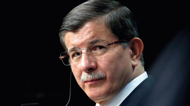 رئيس الوزراء التركي السابق: أحمد داوود أوغلو.