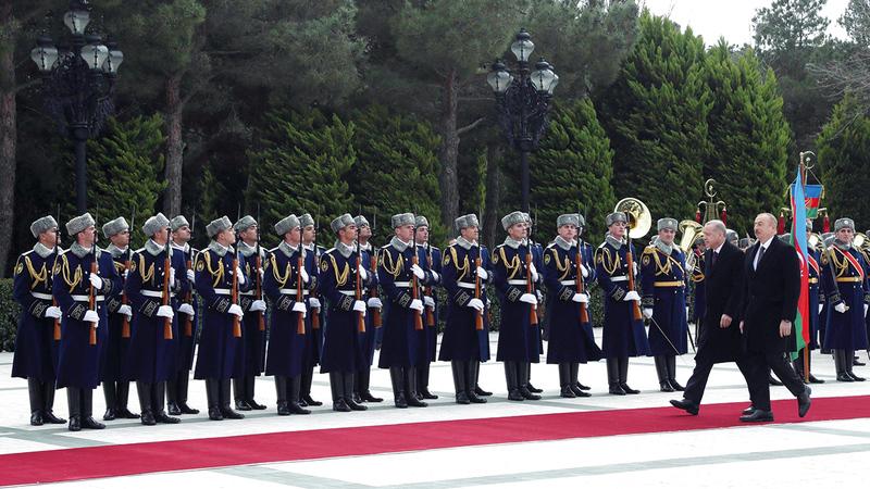 أردوغان ذهب إلى باكو للاحتفال بعد انتهاء الحرب مع أرمينيا.  أرشيفية