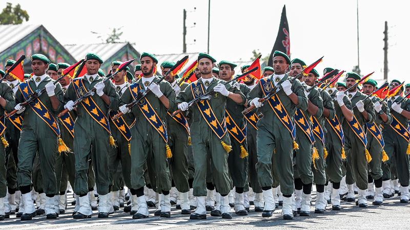 الحرس الثوري له اليد الطولى والمسيطرة على مقاليد الأمور في إيران.   أ.ف.ب