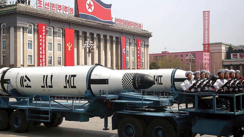 عمل كيم يونغ أون على تطوير قدرات كوريا الشمالية الصاروخية.   أرشيفية