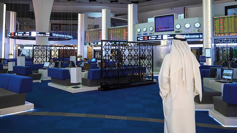 بعض الأخبار التي تعلقت بالبيانات المالية للشركات المدرجة في «دبي المالي» أثرت في أداء السوق.   تصوير: أشوك فيرما
