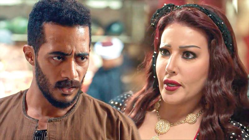 محمد رمضان وسمية الخشاب في مشهد من مسلسل «موسى».   أرشيفية