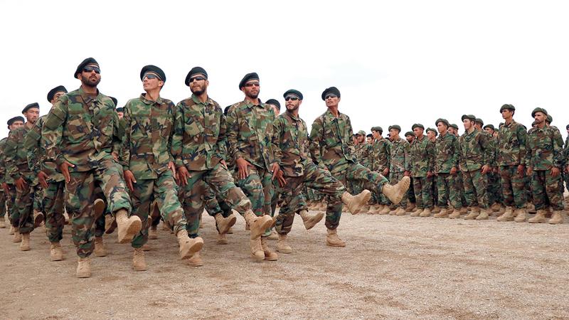 مراسم تخرّج دفعة جديدة من القوات الأفغانية في هيرات بأفغانستان.   إي.بي.إيه