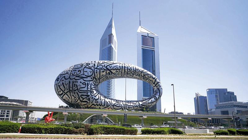 مشروعات جديدة ستسهم في تعزيز مكانة دبي السياحية مثل متحف المستقبل.  تصوير: أشوك فيرما