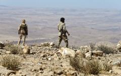 الصورة: الجيش اليمني يحرّر منطقتَي العجوز ومبلودة بجبهة الكسارة في مأرب
