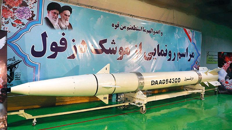 صواريخ إيران البالستية مشكلة على الطريق.   أرشيفية